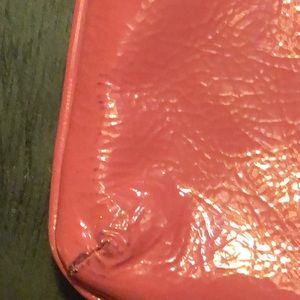 Coach Bags - Coach pink patent leather wristlet